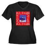 Carolers Women's Plus Size V-Neck Dark T-Shirt
