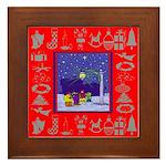 Carolers Framed Tile