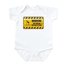 Warning Pole Vaulter Infant Bodysuit