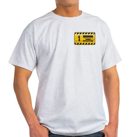 Warning Plumber Light T-Shirt