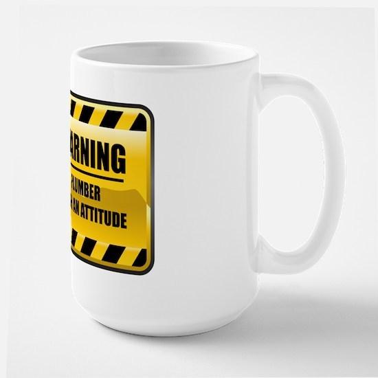 Warning Plumber Large Mug