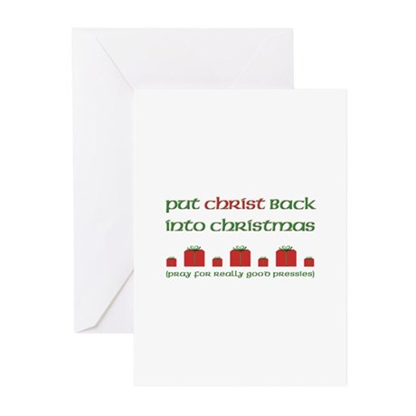 Christ-mas Pressie Greeting Cards (Pk of 20)