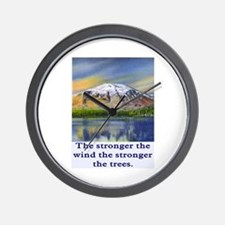 STRONGER THE TREES.. Wall Clock