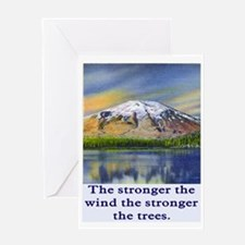 STRONGER THE TREES.. Greeting Card