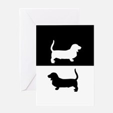 Basse Hounds Greeting Cards