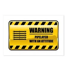 Warning Pipelayer Postcards (Package of 8)