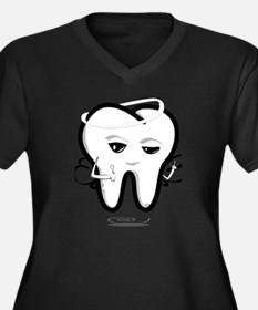 Cute Kids tooth fairy Women's Plus Size V-Neck Dark T-Shirt