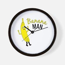 Banana Man Wall Clock