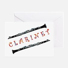 Clarinet Music Greeting Card