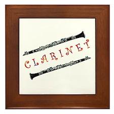 Clarinet Music Framed Tile
