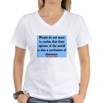 EMERSON - CHARACTOR QUOTE Women's V-Neck T-Shirt