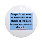 EMERSON - CHARACTOR QUOTE Ornament (Round)