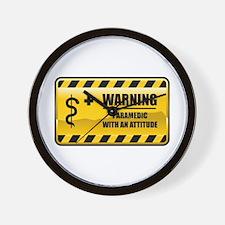 Warning Paramedic Wall Clock