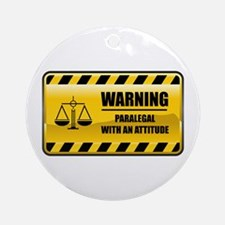 Warning Paralegal Ornament (Round)