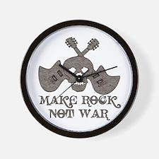 Make Rock Not War Wall Clock