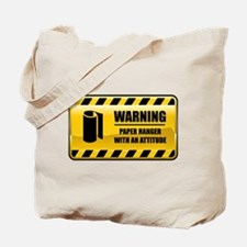 Warning Paper Hanger Tote Bag