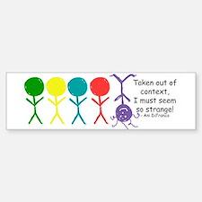 Out Of Context Bumper Car Car Sticker
