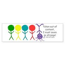 Out Of Context Bumper Car Sticker