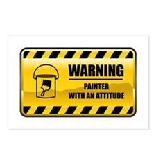 Warning Painter Postcards (Package of 8)