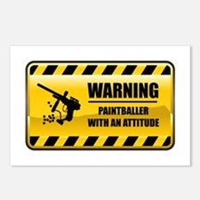 Warning Paintballer Postcards (Package of 8)