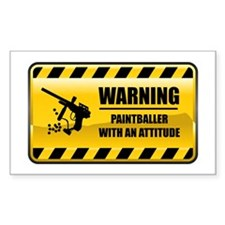 Warning Paintballer Rectangle Decal