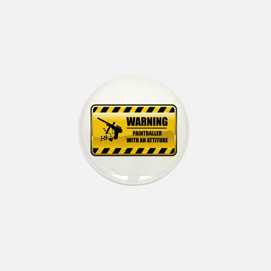 Warning Paintballer Mini Button