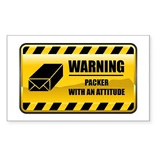 Warning Packer Rectangle Decal