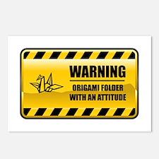 Warning Origami Folder Postcards (Package of 8)