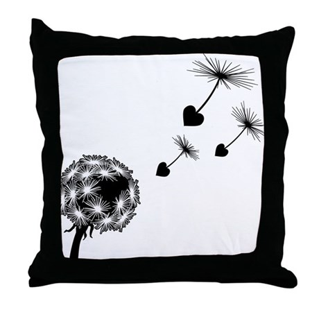 Dandelion Love Throw Pillow