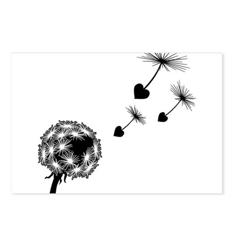 Dandelion Love Postcards (Package of 8)