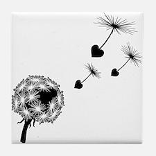 Dandelion Love Tile Coaster