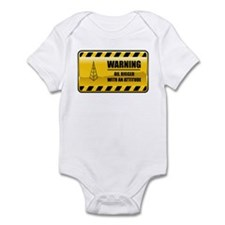 Warning Oil Rigger Infant Bodysuit