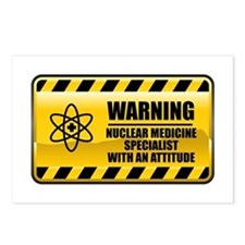 Warning Nuclear Medicine Specialist Postcards (Pac