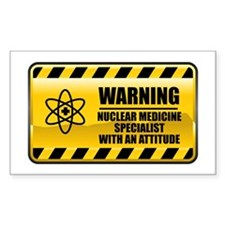 Warning Nuclear Medicine Specialist Decal