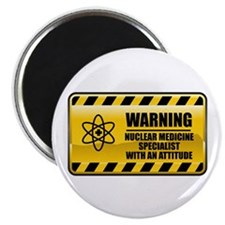 Warning Nuclear Medicine Specialist Magnet