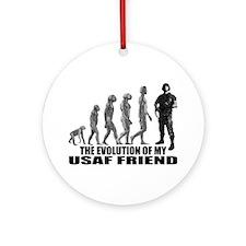 Evolution - My USAF Frnd Ornament (Round)