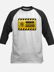Warning Nuclear Engineer Kids Baseball Jersey