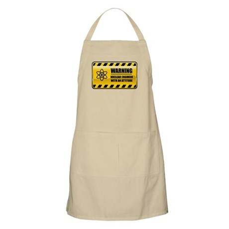Warning Nuclear Engineer BBQ Apron