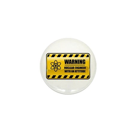 Warning Nuclear Engineer Mini Button (10 pack)