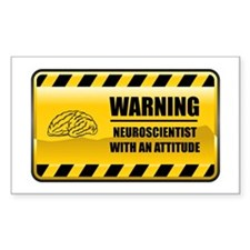 Warning Neuroscientist Rectangle Decal