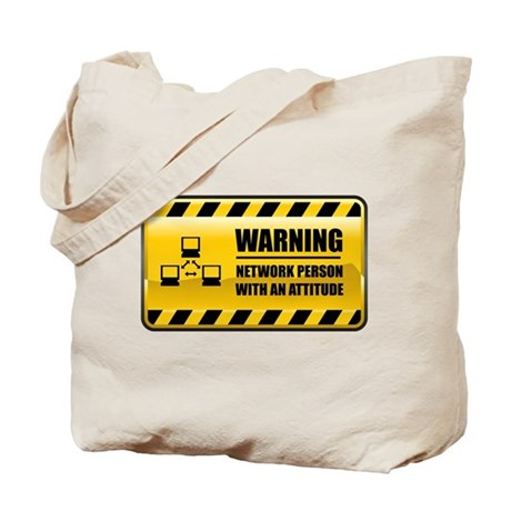 Warning Network Person Tote Bag