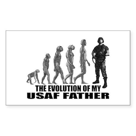 Evolution - My USAF Fthr Rectangle Sticker