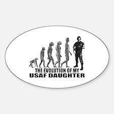 Evolution - My USAF Dghtr Oval Decal