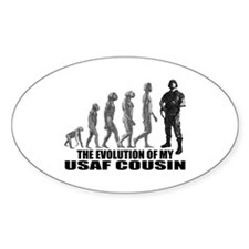 Evolution - My USAF Cousin Oval Decal