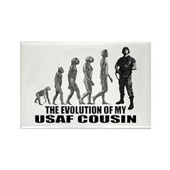 Evolution - My USAF Cousin Rectangle Magnet