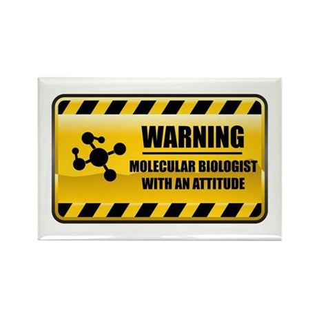 Warning Molecular Biologist Rectangle Magnet (100