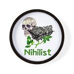 Nihilist Skull Wall Clock