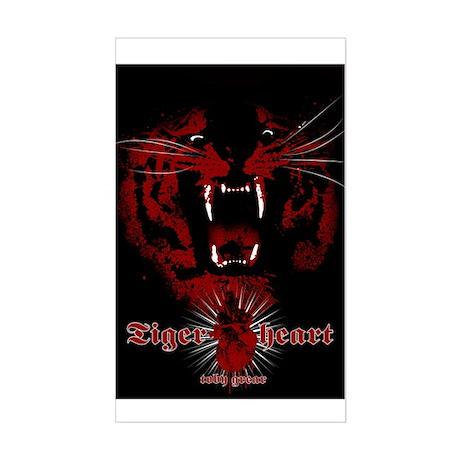TigerHeart Rectangle Sticker