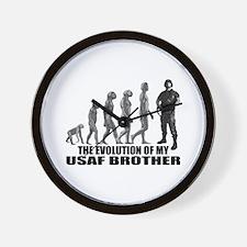 Evolution - My USAF Bro Wall Clock