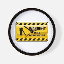 Warning Miner Wall Clock